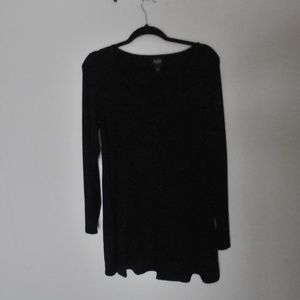 Eileen Fisher black jersey tunic size, MP